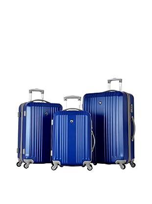 Olympia USA Corsair 3-Piece Hardcase Set, Royal Blue