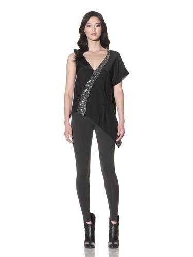 Foley + Corinna Women's Eske Asymmetric Silk Blouse (Black)