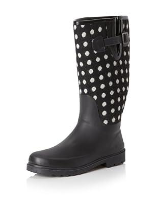 Chooka Women's Dotty Rain Boot (Black/Polka Dot)