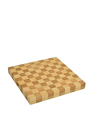 Picnic at Ascot Square Checkered Chop Board, Natural