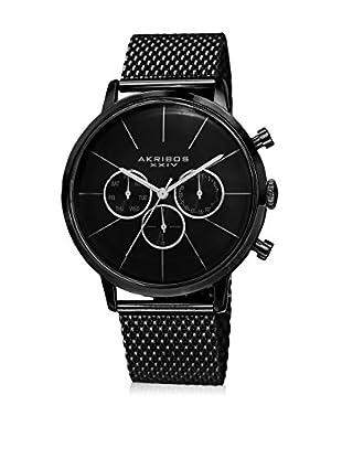 Akribos XXIV Uhr mit schweizer Quarzuhrwerk Man schwarz 42 mm
