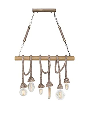 Light UP Pendelleuchte Bamboo gelb