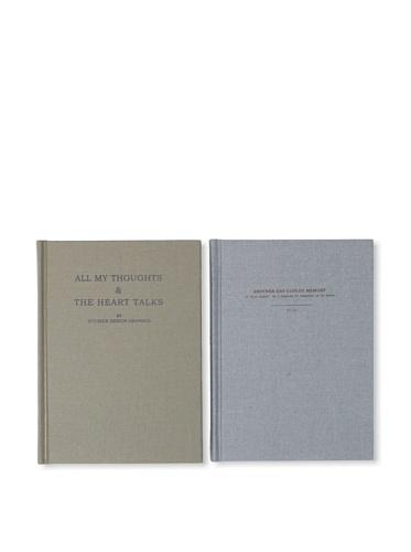 Sweet Bella Set of 2 Hardcover Journals - Sky and Khaki