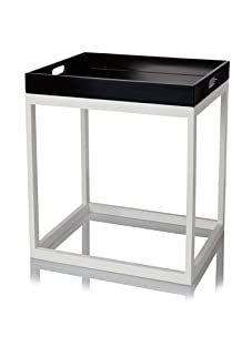 Tribeca Table with Removable Tray (Black/White)