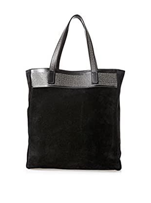 Saint Laurent Women's Shopping Tote, Black Suede
