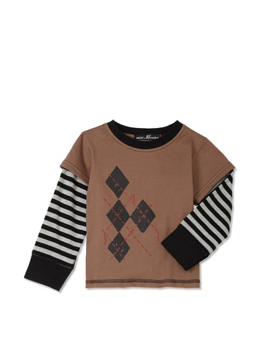 miniMONSTER Baby Boy's Two-Fer Tee (Brown)