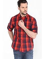 Checks Red Casual Shirt