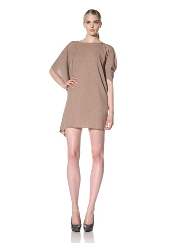 Zero + Maria Cornejo Women's Plisse Contra Dress (Adobe)