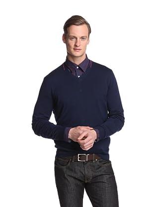 Façonnable Men's V-Neck Merino Sweater (Navy)
