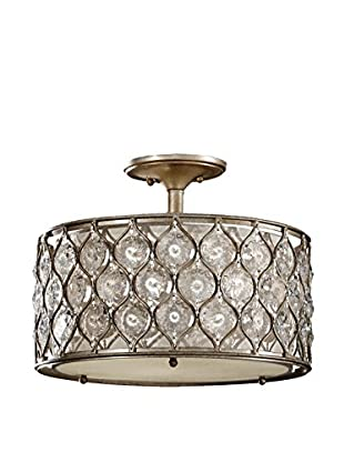 Feiss 3-Light Lucia, Burnished Silver