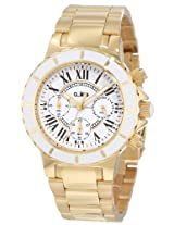 a_line Watches, Women's Marina Chronograph White Dial Gold Tone, Model 20108DV