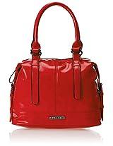 Caprese Women's Satchel (Red) (TESATIMDCOR)