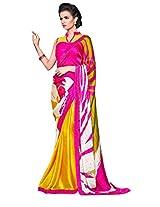 Temptingg Fashions Satin Saree(Tf358303_Yellow)