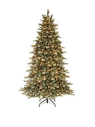 National Tree Company 7.5' Copenhagen Spruce Hinged Tree & Cones