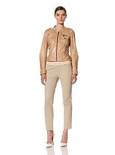Andrew Marc Women's Bette Leather Jacket (Dune)