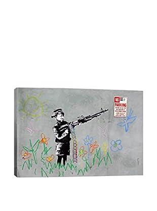 Banksy Boy With Gun Giclée On Canvas