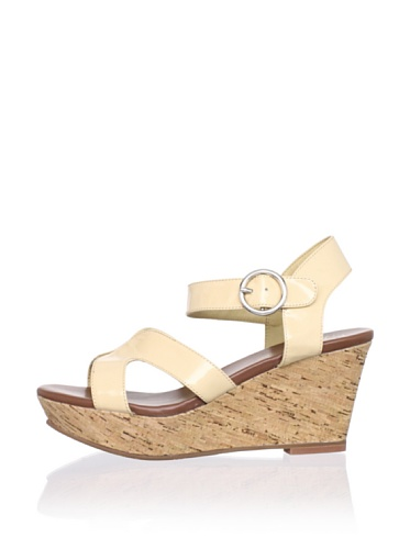 Matt Bernson Women's Kuba Cross-Front Cork Wedge (Nude)