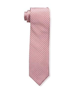 Bruno Piattelli Men's Microneat Silk Tie, Coral