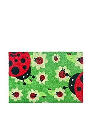 VIGAR Felpudo Ladybug Essential Negro / Rojo / Verde