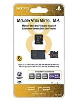 8GB Memory Stick Micro Media + M2 Duo Adaptor - Sony PSP