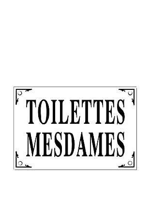 Bonnecaze Absinthe & Cuisine Mesdames Toilettes Enamel Metal Plaque
