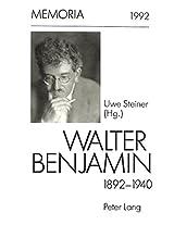 Walter Benjamin 1892-1940.: Zum 100. Geburtstag. (Memoria)