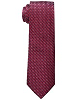Haggar Men's Mini Neat Tie, Red, One Size
