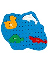 Little Genius Sewing Pond with Animals, Multi Color