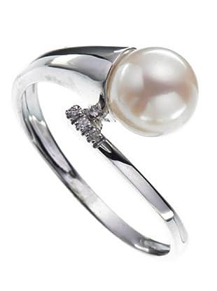 Emi Kawai Ring Weißgold 18k Perle 7,5 mm