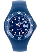 Men'S Dark Blue Dial Dark Blue Silicone (Jtb19Db)