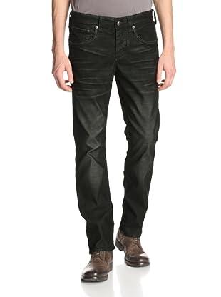 Stitch's Men's Texas 5 Pocket Straight Leg Corduroy Pant (Dark Moss)