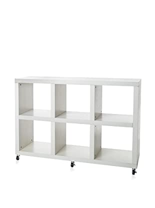 Organize It All Dawn 6-Section Storage Unit, White