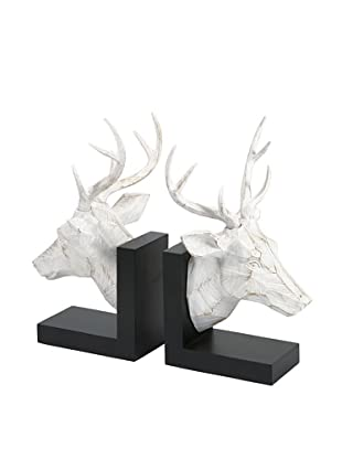 Set of 2 Joseph Deer Head Bookends