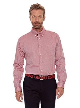 Cortefiel Camisa Oxford (Rojo)