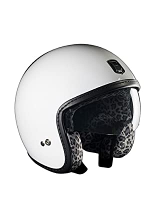 Exklusiv Helmets Casco Racer White Snow Leopard (Blanco)