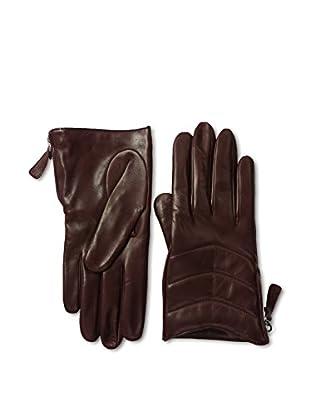 Portolano Women's Zippered Leather Gloves (Tokay)