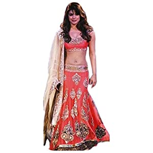 PARTY WEAR FABULOUS BEAUTIFUL Bollywood Replica Exclusive Designer Butterfly Net WEDDING Lehenga -