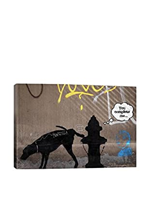 Banksy All I Ever Wanted Was A Shoulder To Crayon Gallery Wrapped Canvas Print