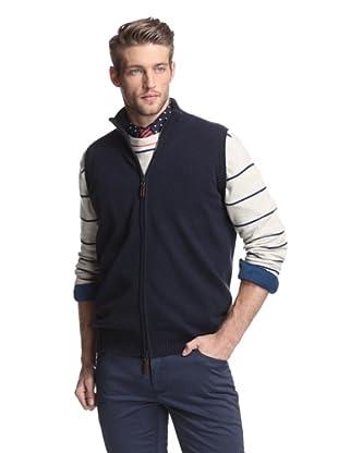 Oxxford Men's Zip-Up Vest (Navy)