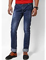 Jctex Men's Denim Slim Fit Jeans (Dj Blu 34 _Blue _34)