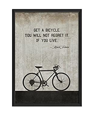 The Artwork Factory Bicycle Twain On White Framed Art