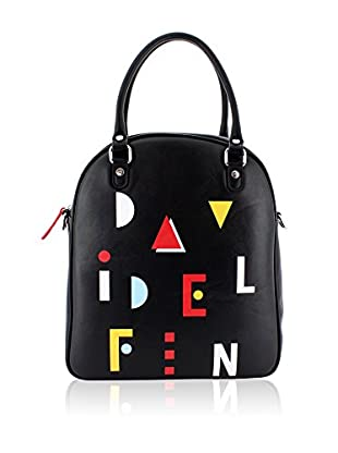 davidelfin Bolso asa al hombro Name Game Bag Negro