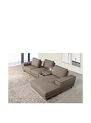 DG Casa Berkeley Sectional Sofa Right Chaise, Light Brown