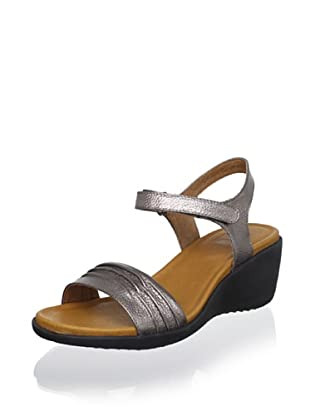 Cougar Women's Malta Wedge Sandal (Pewter Metallic)