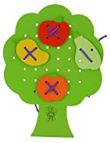 Skillofun Wooden Sewing Tree with Fruits, Multi Color