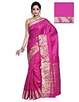 Meghdoot Artificial Tussar Silk Saree (SURYA_MT1072_RANI Pink Color Sari)