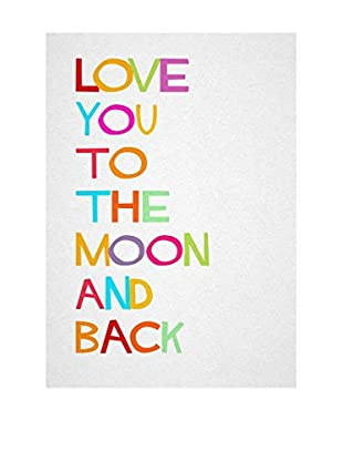 Little Nice Things Wandbild Love You Moon