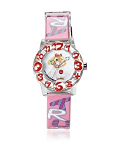 Trudi Kid's Lion Cub Watch, Soft Pink