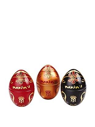 Maxim's de Paris Set of 3 Mini Egg Tins