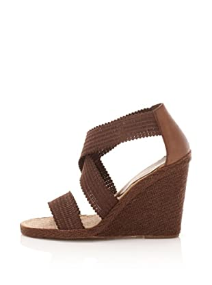 André Assous Women's Peppy Wedge Espadrille (Brown)